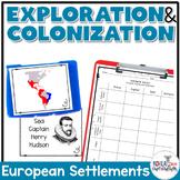 European Settlements Card Sort Activity
