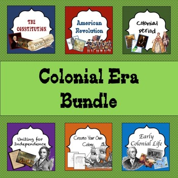 Colonial Era Bundle: guided lessons and guided notes to help you and students