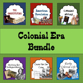 Colonial Era Bundle: guided lessons and guided notes to he