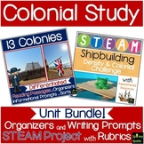 13 Colonies Sorts, Writing Prompts, & Graphic Organizers