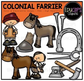 Colonial Farrier Clip Art Bundle {Educlips Clipart}