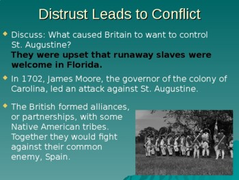 Colonial Florida History SS PowerPoint: St. Augustine, Spain, Britain, Fort Mose