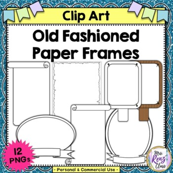 Colonial Borders and Colonial Frames (10 PNG images Commer