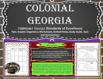 Georgia Studies: Colonial Georgia (SS8H2cde)