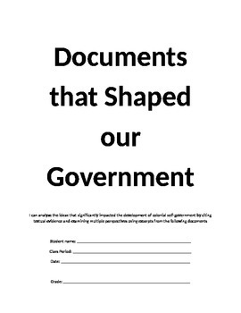 Colonial Government Documents and Terms