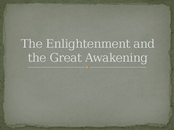 Colonial Great Awakening and Enlightenment