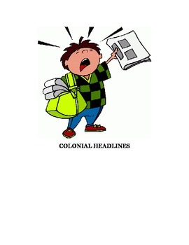 Colonial Headlines Review Activity