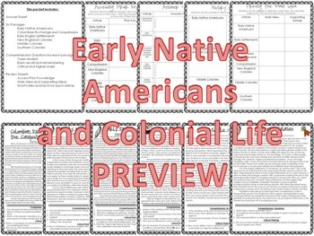 Colonial History Reading Packet