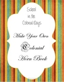 Colonial Horn Book - Create your Own