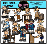 Colonial Jobs Clip Art Bundle {Educlips clipart}