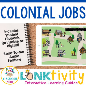 Link & Think Digital Guide - Colonial Jobs {Google Classroom Compatible}