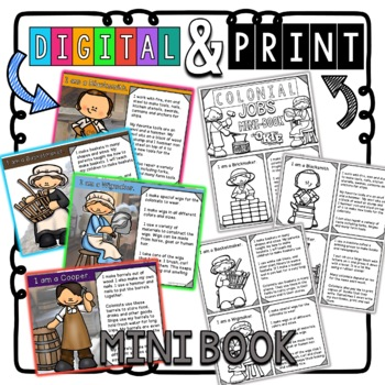 Colonial Jobs: Social Studies Mini -Reader Bundle