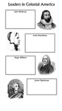 Colonial Leaders Graphic Organizer