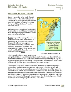 Colonial Life Lesson 2 - Life in the Northern Colonies