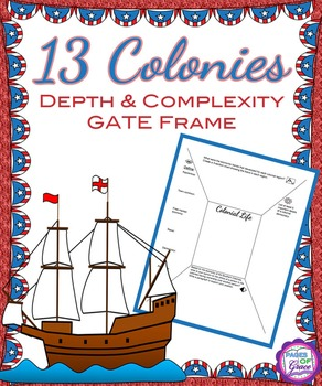 13 Colonies Depth & Complexity GATE Frame