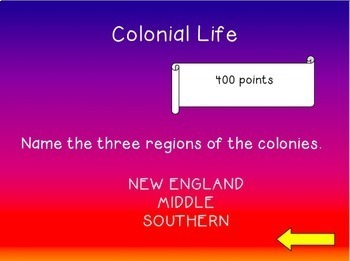 Colonial Life Review Game