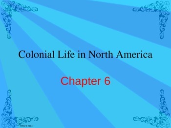 Colonial Life Lessons 3 & 4: Notes, Test, and Jeopardy Game
