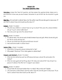 Colonial Life RAZ Activity Text Based Menu Questions
