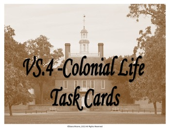 Colonial Life SCOOT / Task Cards (VS.4)