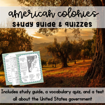 Colonial Life Study Guide & Quizzes