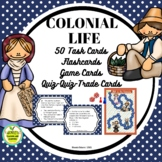 Colonial Life Task, Activity and Game Cards with Gameboard
