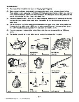 Colonial Period: Economy AMERICAN HIST. LESSON 26 of 150 Map Ex., Auction & More