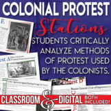 Colonial Protest Boycotts, Tarring and Feathering Effigies Gallery Walk Stations