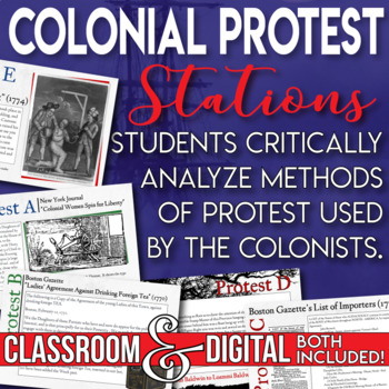 Colonial Protest Boycotts, Tarring and Feathering and Effi