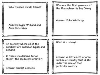 Colonial America Quiz Game