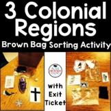Colonial Regions Brown Bag Sort Activity