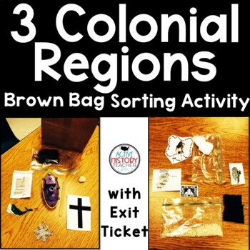 Colonial Regions Brown Bag Sort Activity