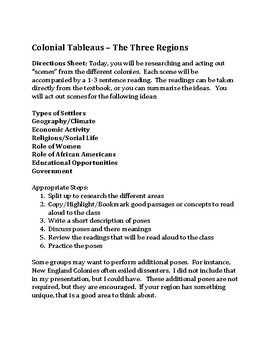 Colonial Regions Comparison - Tableau Lesson