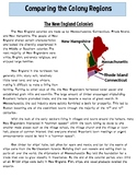 Colonial Regions: New England, Middle & Southern Colonies