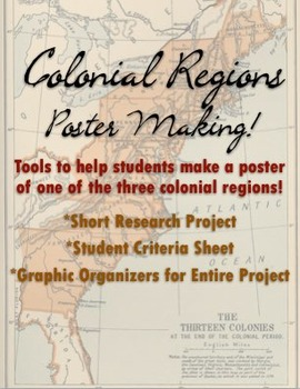 Colonial Regions ~ Three Colonial Regions Posters