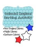 Colonial Regions Sorting Activity