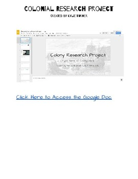 Colonial Research Project Google Slide