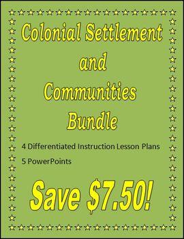 Colonial Settlement and Communities Bundle