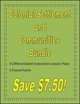 Colonial Settlement and Communities Bundle