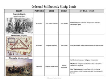 Colonial Settlements Study Guide- English and Spanish Versions!