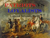 Colonial Tensions Vocab