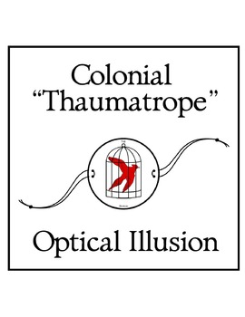 "Colonial ""Thaumatrope"" Optical Illusion Toy"
