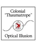 "Colonial ""Thaumatrope"" Optical Illusion Toy"