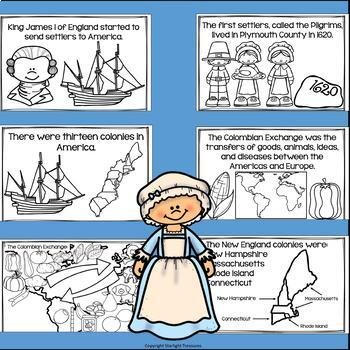 Colonial Times Mini Book for Early Readers - 13 Colonies, Colonial Jobs, & More!