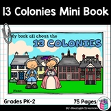 Colonial Times Mini Book for Early Readers - 13 Colonies,