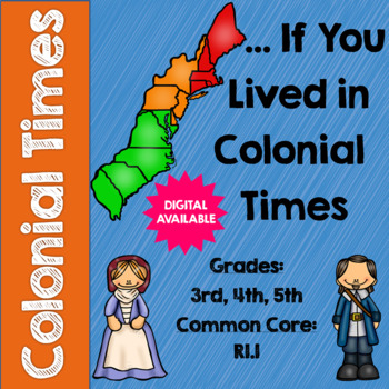 …If You Lived in Colonial Times by Ann McGovern Questions- 3rd, 4th, 5th