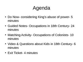 Colonial Times through Boston Massacre Powerpoint Presentation