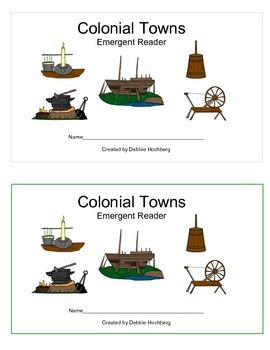 Colonial Towns-- EMERGENT READER