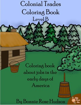 Colonial Trades Coloring Book-Level B