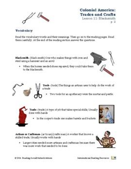 Colonial Trades Lesson 11 - Blacksmith
