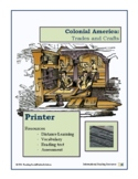 Colonial Trades Lesson 13 - Printer